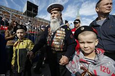 A war veteran arrives with two children on the day Russians remember their war dead and the capitulation of Nazi Germany