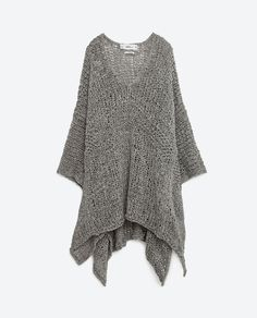 Image 8 of KNIT PONCHO from Zara