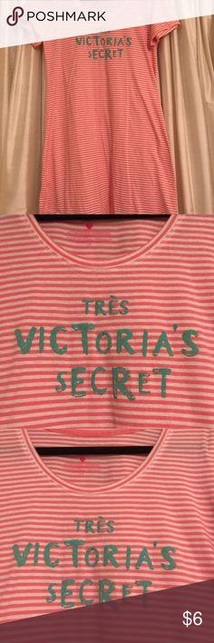 Victoria's Secret Nightshirt Victoria's Secret Pink & White Striped Nightshirt in good condition. PINK Victoria's Secret Intimates & Sleepwear Pajamas