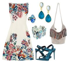 """Tropical Breeze"" by donnalynnginn ❤ liked on Polyvore featuring Oasis, Sorrelli, Dina Mackney, The Sak and Burberry"