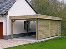 carport toit plat avec brise vue import garden   carports ... - Plan Garage Ossature Bois Toit Plat