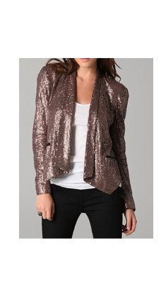 Rose gold sequin blazer! YES please!