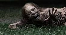 "This is one of our fave zombies from ""The Walking Dead"" Season 1! The dessicated mouth and jaw are becoming more iconic all the time!"