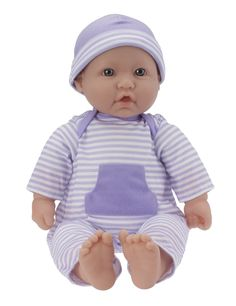 JC Toys, La Baby 16-inch Washable Soft Body Purple Play Doll - For Children 2 Years Or Older, Designed by Berenguer