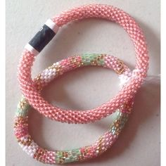 Lily and Laura Bracelets pretty pink. #lilyandlaura