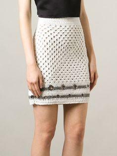 Aviù Open Knit Eyelets Skirt - Twentyone St. Johns Wood - Farfetch.com