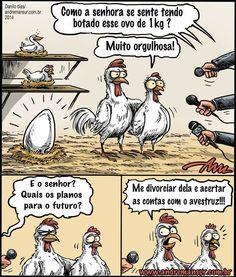 """""""O GRITO DO BICHO"""": Piada do dia.... a galinha e seu ovo... kakakakaka... #ogritodobicho #falabicho"""