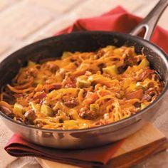 Bacon Cheeseburger Spaghetti Recipe