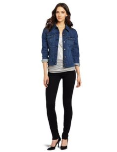 Amazon.com: Levi's Women's Authentic Trucker Jacket: Clothing. Available in 4 colors, including winter white and burgundy.