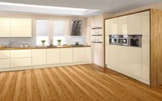 Wickes sofia ( cream) of Caledonia (White) with a solid wood worktop, fantistic floating shelves. Modern and Minimalistic Kitchen Cost, Kitchen Units, Updated Kitchen, Kitchen Layout, Kitchen Cabinets, New Kitchen Designs, Kitchen Ideas, Cool Kitchens, Kitchens Uk