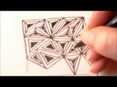 ▶ How to draw tanglepattern Fassett - YouTube