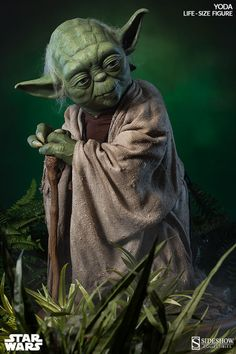 Captured in astonishing detail, this life size Yoda figure is truly a work of art. A must-have Star Wars collectible for any serious fan.