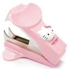 Hello Kitty Staple Remover Pink Kid Cute Girl Gift Desk Office Staplers UK