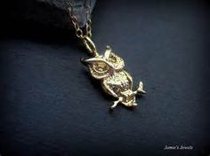 Gold Owl Necklace - Owl Jewelry - Nature Inspired Jewelry - Owl Lover