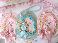 Paper egg tags...Vintage Easter by sweetnshabbyroses