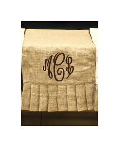 Monogram Burlap Table Runner - One to give as a gift and one for me!