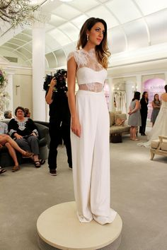 Afbeeldingsresultaat voor say yes to the dress jumpsuit Pretty Wedding Dresses, Bridal Party Dresses, Beautiful Dresses, Bridesmaid Dresses, Bridal Jumpsuit, Jumpsuit Dress, W Dresses, Rehearsal Dress, Yes To The Dress