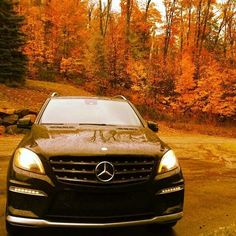 Chase the fall foliage faster with the ML63 AMG. #MBphotocredit @destinationpy #Mercedes #Benz #ML63 #AMG #SUV #instacar #carsofinstagram #germancars #luxury