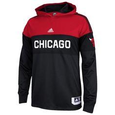 Chicago Bulls adidas Pre-Game Hooded Long Sleeve Shooter - Black