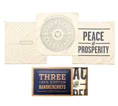 Stars Handkerchief Set from Izola. The handkerchiefs are a little overdone, although still nice. But love the packaging.
