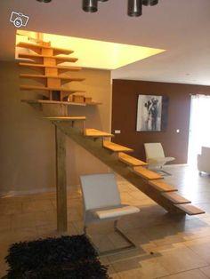 mon nouvel Escalier en  chêne contemporain