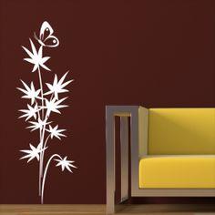 Adesivo de Parede - Floral e Borboleta