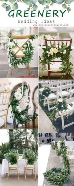 [tps_header] [/tps_header]Pantone 2017 color of the year: greenery – a shade between green and yellow, rather bold and light, zesty and almost neon. Greenery is Floral Wedding, Fall Wedding, Rustic Wedding, Wedding Reception, Dream Wedding, Wedding Chair Decorations, Wedding Chairs, Wedding Trends, Wedding Designs