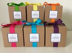 Ella B birthday candles are here and we are so excited! Wrapped in beautiful, festive colorful ribbon and now in two sizes, small and large.  Lemon zest and vanilla scented.