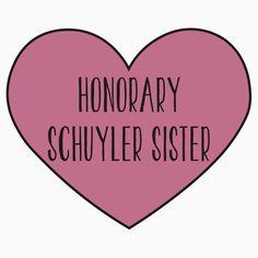 Honorary Schuyler Sister