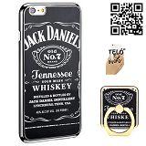 Jack Daniels mintázatú hátlapvédő tok TelóGyűrű ®-vel Iphone 6/6S-re