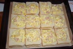 Zapečené tousty - recept | Varecha.sk Dairy, Bread, Cheese, Food, Brot, Essen, Baking, Meals, Breads