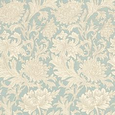 Chrysanthemum Toile wallpaper by Morris