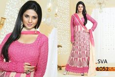 Buy White and Pink Faux Georgette Straight Salwar Suit, Designer Long Salwar Suit of the women are still fashion conscious thus this Salwar Suit has seen various changes in terms of designs, style, and patterns. Glamour Beauty designer Salwar Suit collections are always liked by women in Indian Style. www.suitsvilla.com/