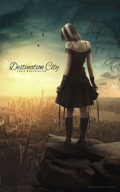 Hey everyone. Today I will show you how to create a photo manipulation entitled Destination City in Photoshop CC.