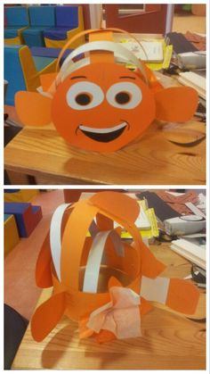 Nemo verjaardagsmuts #Danique Diy And Crafts, Crafts For Kids, Paper Crafts, 4 Kids, Art For Kids, Pre K Graduation, Hat Day, Crazy Hats, Pre School