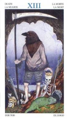 death - tarot of the animal lord --  If you love Tarot, visit me at www.WhiteRabbitTarot.com