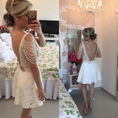 Mini A-Line Lace Homecoming Dresses Deep V-Neck Cocktail Dresses with Pearls Party Dresses_Buy High Quality Dresses from Dress Factory 2016 Homecoming Dresses, Prom Party Dresses, Formal Evening Dresses, Formal Prom, Stylish Dresses, Sexy Dresses, Beautiful Dresses, Short Dresses, Dresses 2016