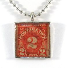 Vintage US 2 Cent Postage Due Canceled Postage Stamp by 12be, $14.50