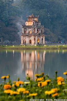 Southeast Asia Hanoi Hoan Kiem Lake Vietnam