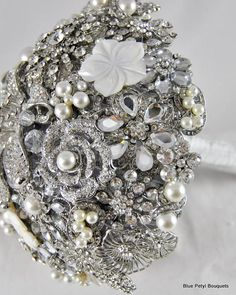 Bling! Brooch Bouquet by Blue Petyl  if I could only afford something like this :/