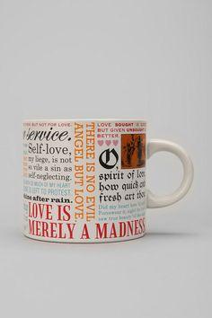 Shakespeare Love Mug | Urban Outfitters
