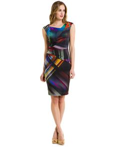 Kay Unger Modern Print Sheath Dress