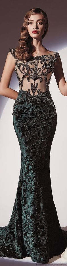 white prom dresses 2014,black prom dress,Dany Tabet Couture |