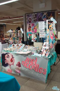 Big Apple Con 2017 Artist Alley Booth By Meldoodles Setup And Design