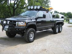 6x6 #Dodge 3500 with Pocket Style #FenderFlares #Trucks