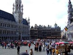 The Main Market Square in Brussels