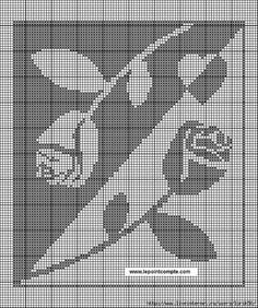 roses gifts for women's day roses counted cross stitch Filet Crochet Charts, Knitting Charts, Loom Knitting, Crochet Stitches, Cross Stitch Designs, Cross Stitch Patterns, Cross Stitching, Cross Stitch Embroidery, Tapestry Crochet Patterns