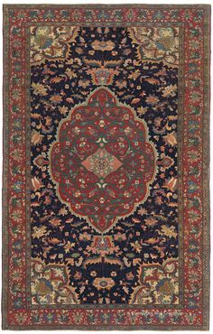 FERAHAN SAROUK, West Central Persian 4ft 3in x 6ft 8in Circa 1875