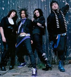 Mindless self indulgence. The first time I ever heard them was august 07. I was behind the second stage at Projekt Rev and saw Jimmy go on stage in a full tux in 110 degree weather...he came off stage in just a pair of boxers...no tux in sight...