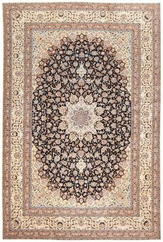 Persian Nain Carpet, Country of Origin / Rug Type: Vintage Persian Rug, Circa Date: Early Century 13 ft x 19 ft m x m) Shag Carpet, Wall Carpet, Diy Carpet, Bedroom Carpet, Living Room Carpet, Modern Carpet, Rugs On Carpet, Carpet Ideas, Beige Carpet